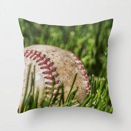 Old Baseball 1 Throw Pillow