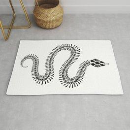 Snake Skeleton – Black Ink Rug