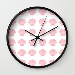 Coral Seashell Wall Clock