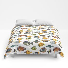 School of Tropical Fish Comforters
