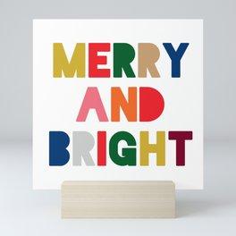 merry and bright (multi) Mini Art Print