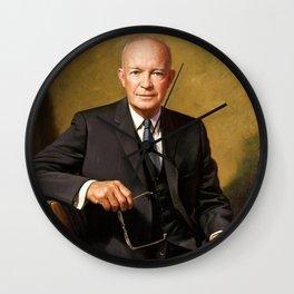 Dwight D. Eisenhower Wall Clock