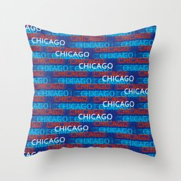 Chicago Moving Forward Throw Pillow