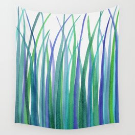 Blue Grasses Wall Tapestry