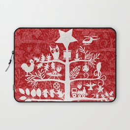 CHRISTMAS TREE white ITINERANT Laptop Sleeve