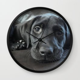 Labrador Puppy Wall Clock