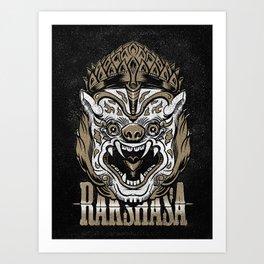 Rakshasa demon Art Print