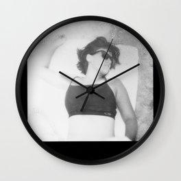 Beach7bw Wall Clock
