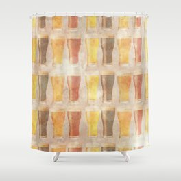 99 Pints of Beer on the Wall Shower Curtain