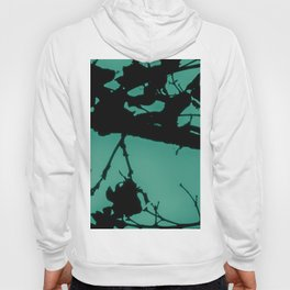 Teal Marbled Moon Hoody