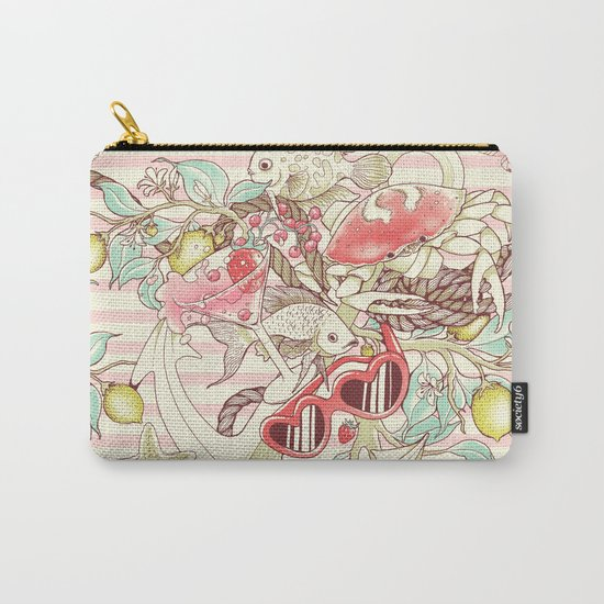 Sea, Sun and Fun - Pt. 2 - pink tones Carry-All Pouch