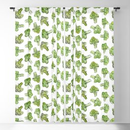 Broccoli - Scattered Blackout Curtain