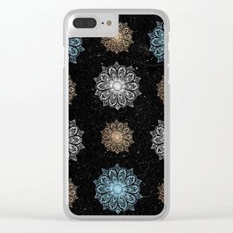 Celestial Sequins Clear iPhone Case