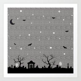 Spoopy Cemetery Print Art Print
