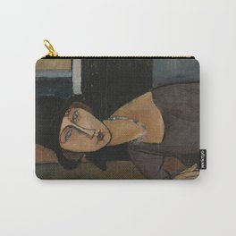 Modigliani - Jeanne Hebuterne With Hat And Necklace Carry-All Pouch