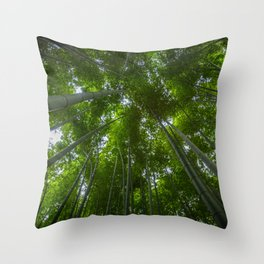 Bamboo Forest Canopy Throw Pillow