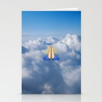 emoji Stationery Cards featuring Heavenly Emoji by jajoão