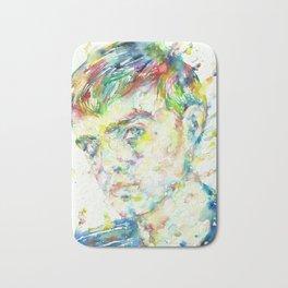 TRUMAN CAPOTE - watercolor portrait Bath Mat