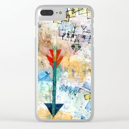 """Paul Klee """"Birds Swooping Down and Arrows"""" Clear iPhone Case"""