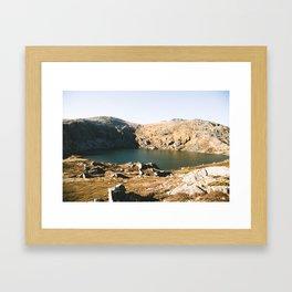 Blue Lake II Framed Art Print