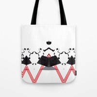 rorschach Tote Bags featuring Rorschach by Isaak_Rodriguez