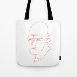 red line face Tote Bag