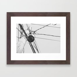 You Got Your Wires Crossed? Framed Art Print