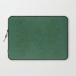 Floral Ink - Emerald & Olive Ranunculus Laptop Sleeve