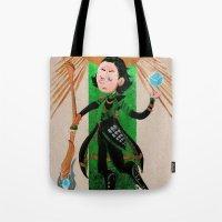tarot Tote Bags featuring Loki Tarot by ARTeapot SHOP