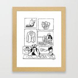 Father & Son (VATER UND SOHN) eo Plauen - Inventors Framed Art Print