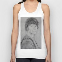 sam winchester Tank Tops featuring Sam Winchester by Brooke Shane