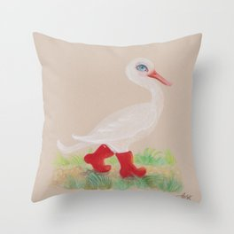 a Snozzleberry Swan excursion Throw Pillow