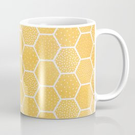 Yellow Honeycomb Pattern Coffee Mug