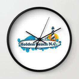 Holden Beach - North Carolina. Wall Clock