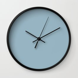 Fond Memory Pastel Blue Solid Color Pairs To Sherwin Williams Respite SW 6514 Wall Clock