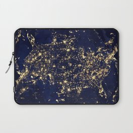 Gold map Laptop Sleeve