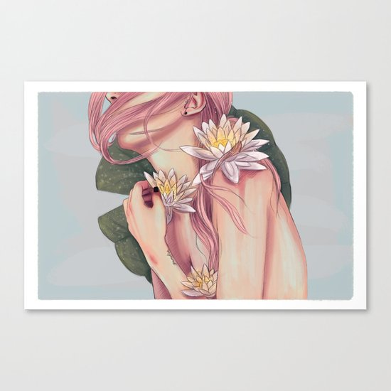 And She Loved Lillies Canvas Print