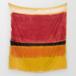 1949 Untitled (Violet, Black, Orange, Yellow on White and Red) by Mark Rothko Wall Tapestry
