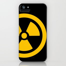 Yellow Radioactive iPhone Case