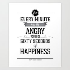 Happiness Quote Art Print