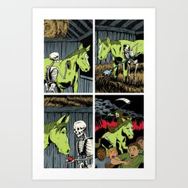 Death and his Pale Horse Art Print