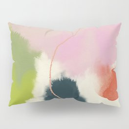 sky abstract with pink & green clouds Pillow Sham
