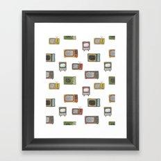 television Framed Art Print