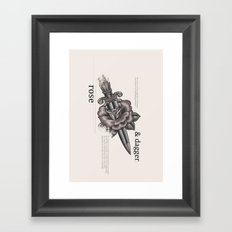 Rose & Dagger Framed Art Print