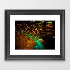 Festive Lights Framed Art Print