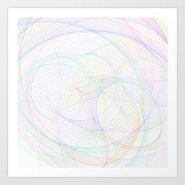 Zoomed Rings 2 Art Print