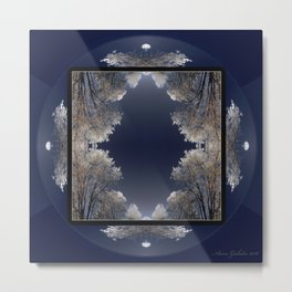Ice Crystal Square Metal Print