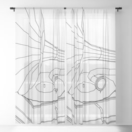 gramophone Sheer Curtain