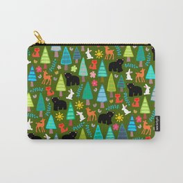 black bear woodland Carry-All Pouch