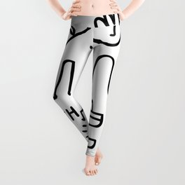 Hope and Truth Graffiti Black and White Hand Drawn  Leggings
